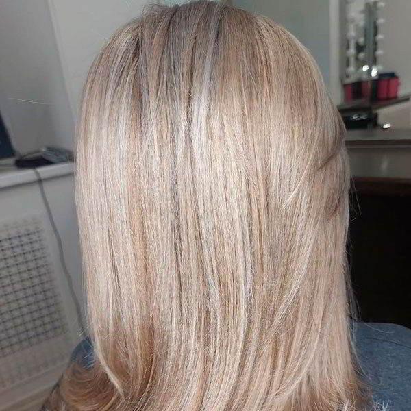 Калифорнийское мелирование на русые волосы и темные